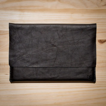 Macbook Pro Retina 13' Black Leather Sleeve/Cover/Case Portfolio