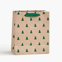 Green Glitter Tree Medium Bag