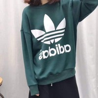 Adidas Women/Men Fashion Loose Pullover Sweatshirt G
