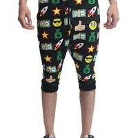 Emoji Print French Terry Jogger Shorts JC386 - T9F
