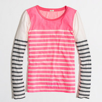 Factory colorblock stripe tee