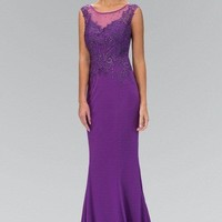 Long formal evening Dress 103-GL1411