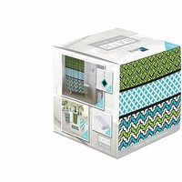 Indecor Home Bath in a Box 18-Piece Bathroom Set, Geo Spa Explosion - Walmart.com