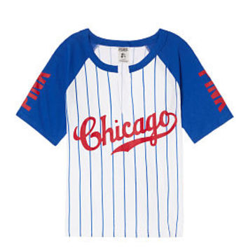 Chicago Cubs Shrunken Raglan Tee - PINK - Victoria's Secret