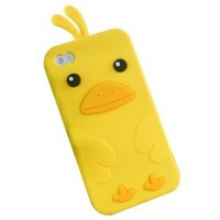 Yellow Cute Penguin Silicone Case Back Cover Protector for Iphone 4 4s
