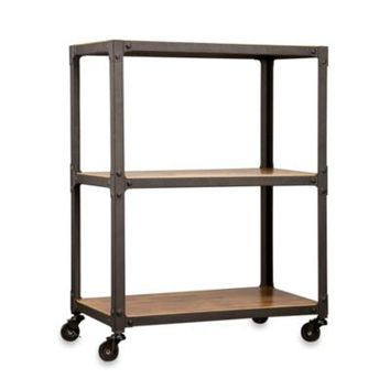 Loft Living Wood Amp Metal 3 Tier Rolling From Bed Bath Amp Beyond