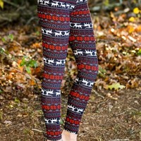 Reindeer Boogie Leggings