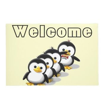 Autumn Fall welcome door mat doormat New Kawaii Flock of Penguins Welcome  Funny Cute Penguin Floor s for Children Non Slip Rubber Kids Room Rug Home AT_76_7