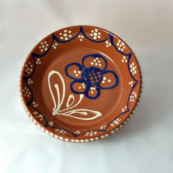 German Plate - Mid Century Pottery Bowl - Hand Painted German Wall Art - Allgauer Keramik Germany - Mid Century Decor