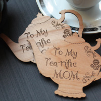 Mother's Day Gift - Wooden Gift Tag - Unique Kitchen Magnets