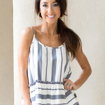 Bel Air Tank in Stripes | Monday Dress Boutique