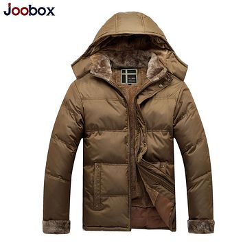 High Quality Brand Casual Cotton Lined Jacket Thickening New Fashion Winter Jacket Men Fleece Warm Coat Parkas M-3XL