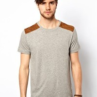 New Look T-Shirt with Shoulder Patches at asos.com