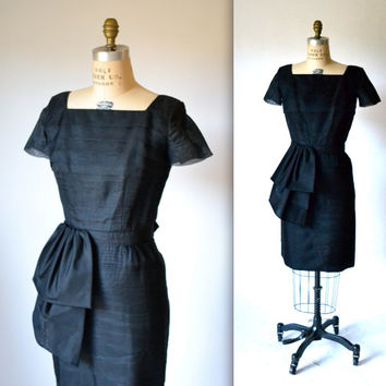 50s Vintage LIttle Black Dress Size Small Medium by Justin McCarty