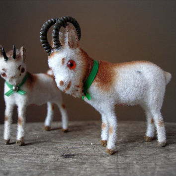 Toy Goats Wagner Kunstlerschutz Handwork Tiny Billy Nanny West Germany