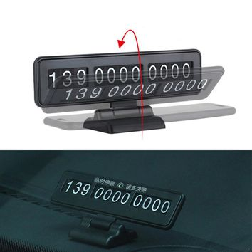 Car Temporary Parking Card Phone Number Plate Parking Assistance Car Sticker Auto Essential Supplies Car-styling Easy Hidden