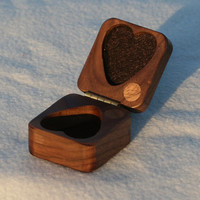 Heart box Christmas black walnut perfect gift