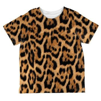 CREYCY8 Halloween Leopard Print Costume All Over Toddler T Shirt