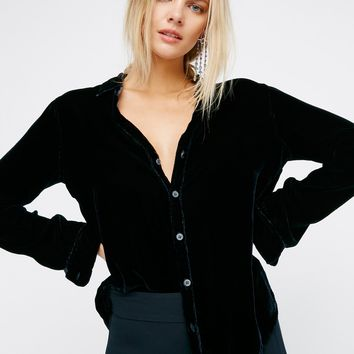 Free People Sloane Velvet Top