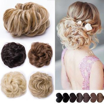 Natural Curly Messy Bun Hair Piece Scrunchie Real Thick Hair Styling Extensions