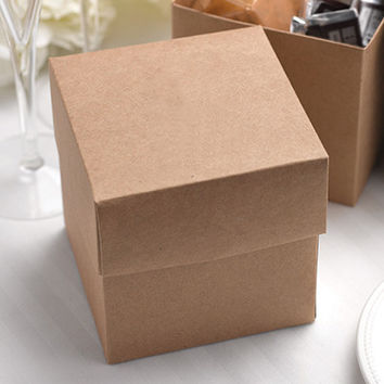 Two Piece Kraft Rustic Favor Box