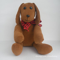 Children Toy Stuffed Handmade Corduroy Puppy Dog