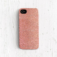 Glitter iPhone 5 case, Glitter iPhone 4 case, iPhone 4s case Sparkle iPhone 4 case sparkle iPhone 5 case silicone pink peach Plastic c81