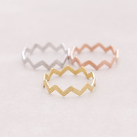 2017 New  Filed ZIG ZAG BAND THUMB RING,Midi Circuitous Ring,Turns Rings for Women R032