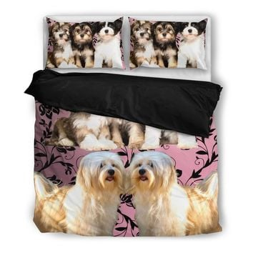 Cute Havanese Print Bedding Set- Free Shipping