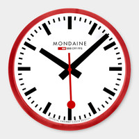 Small Swiss Railway Wall Clock