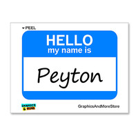 Peyton Hello My Name Is Sticker