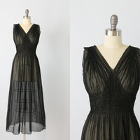 1930s Nightgown / 30s Lingerie / Black / by TheVintageMistress