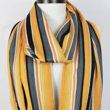 striped scarf,infinity scarf, scarf, scarves, long scarf, loop scarf, gift