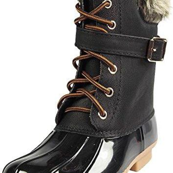 Women's Dylan-7 Lace Up Buckle Strap Winter Duck Boot