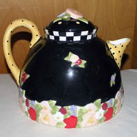 "Mary Engelbreit 8"" Cottage Collection Teapot by Charpente"
