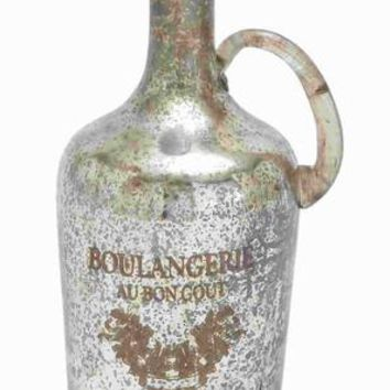"""Benzara 13""""H Unique and Attractive Glass Bottle with Vintage Design"""