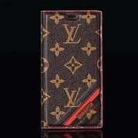 LV & Supreme & GUCCI New Fashion Monogram Tartan More Letter Leather Women Men Protective Cover Phone Case