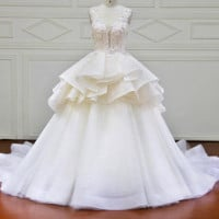 Ball Gown Wedding Dress Long Sleeves Wedding Dresses Tulle