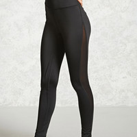Active Mesh Stripe Leggings