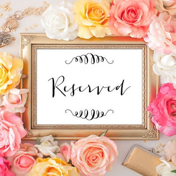 Wedding Reserved Sign - 5x7