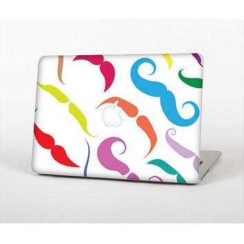 The Bold Colorful Mustache Pattern Skin for the Apple MacBook Air 13""