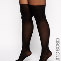 ASOS CURVE Mock Over The Knee Tights With Support