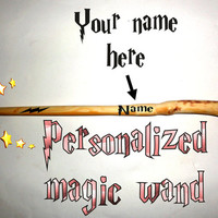 Custom Name Magic Wand Harry Potter Style. Your name printed on beautiful natural old tree branch. Personalized name magic wand, keepsake.