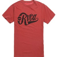 RVCA Bombers T-Shirt - Mens Tee - Red -