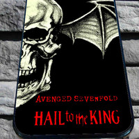 Hail to the kings A7X Avenged sevenfold for iPhone 4/4s/5/5S/5C/6, Samsung S3/S4/S5 Unique Case *95*