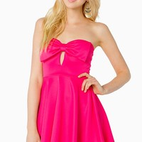 Lovely Bow Flare Dress