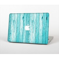 "The Trendy Blue Abstract Wood Planks Skin Set for the Apple MacBook Pro 13"" with Retina Display"