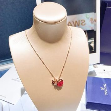 HCXX 19July 427 Swarovski GINGER romantic heart-shaped necklace clavicle chain 5472446