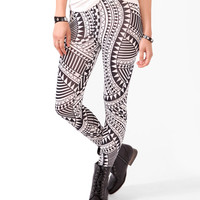 Bold Geo Print Leggings