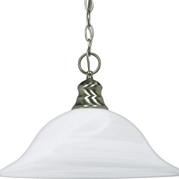Dome Hanging Pendant Light in Brushed Nickel Finish